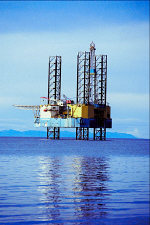 optical fibres on oil rigs
